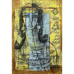 A. S. Rind, 11 x 15 Inch, Mixed Media on Canvas, Figurative Painting, AC-ASR-173