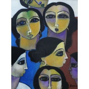 Abrar Ahmed, 18 x 24 Inch, Oil on Canvas, Figurative Painting, AC-AA-109