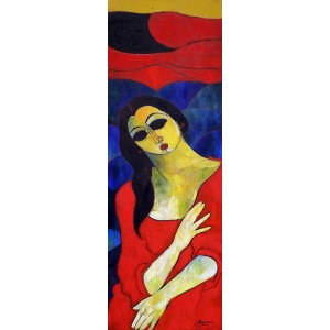 Abrar Ahmed, 12 x 36 Inch, Oil on Canvas, Figurative Painting, AC-AA-114