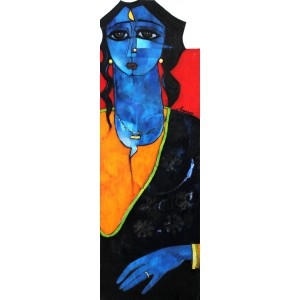 Abrar Ahmed, 12 x 36 Inch, Oil on Canvas,  Figurative Painting, AC-AA-096