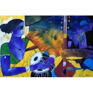 Abrar Ahmed, 24 x 36 Inch, Oil on Canvas, Figurative Painting, AC-AA-035