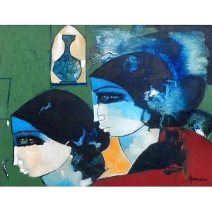 Abrar Ahmed ,14 x 18 Inch, Oil on Canvas, Figurative Painting, AC-AA-016-EXB-002