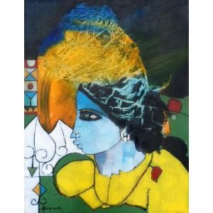 Abrar Ahmed , 14 x 18 Inch, Oil on Canvas, Figurative Painting, AC-AA-019-EXB-005