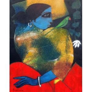 Abrar Ahmed , 14 x 18 Inch, Oil on Canvas, Figurative Painting, AC-AA-026-EXB-012