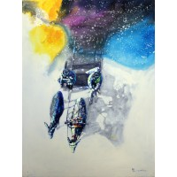 Hussain Chandio, Acrylic on Canvas, 36 x 48 Inch, Horse Painting-AC-HC-013