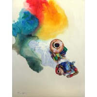 Hussain Chandio, Acrylic on Canvas, 36 x 48 Inch, Figurative Painting-AC-HC-014