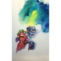 Hussain Chandio, Acrylic on Canvas, 36 x 60 Inch, Figurative Painting-AC-HC-015