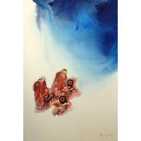 Hussain Chandio, Acrylic on Canvas, 24 x 36 Inch, Figurative Painting-AC-HC-026