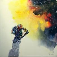 Hussain Chandio, Acrylic on Canvas, 36 x 36 Inch, Figurative Painting-AC-HC-029