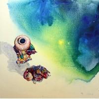 Hussain Chandio, Acrylic on Canvas, 36 x 36 Inch, Figurative Painting-AC-HC-032