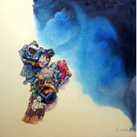 Hussain Chandio, Acrylic on Canvas, 36 x 36 Inch, Figurative Painting-AC-HC-033