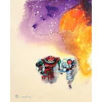 Hussain Chandio, Acrylic on Canvas, 16 x 20 Inch, Figurative Painting-AC-HC-036