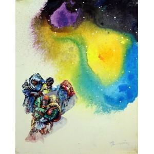 Hussain Chandio, Acrylic on Canvas, 16 x 20 Inch, Figurative Painting-AC-HC-038