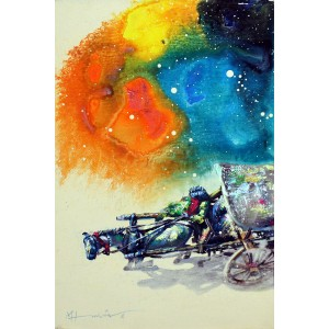 Hussain Chandio, Acrylic on Canvas, 12 x 18 Inch, Figurative Painting-AC-HC-039