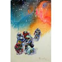 Hussain Chandio, Acrylic on Canvas, 12 x 18 Inch, Figurative Painting-AC-HC-040