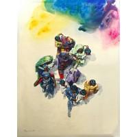 Hussain Chandio, Acrylic on Canvas, 60 x 84 Inch, Figurative Painting-AC-HC-046