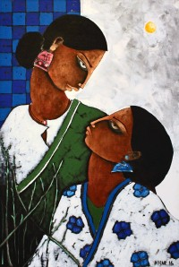 Nisar Ahmed, 16 x 24 Inch, Oil on Canvas, Figurative Painting, AC-NA-034