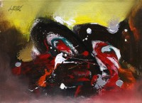 S. M. Naqvi, 10 x 14 Inch, Acrylic on Canvas, Abstract Painting, AC-SMN-080