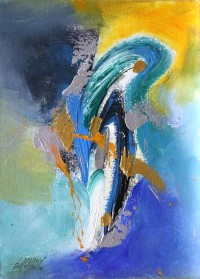 S. M. Naqvi, 10 x 14 Inch, Acrylic on Canvas, Abstract Painting, AC-SMN-081