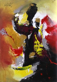 S. M. Naqvi, 10 x 14 Inch, Acrylic on Canvas, Abstract Painting, AC-SMN-088