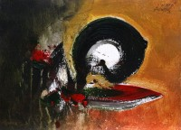 S. M. Naqvi, 10 x 14 Inch, Acrylic on Canvas, Abstract Painting, AC-SMN-105