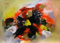 S. M. Naqvi, 10 x 14 Inch, Acrylic on Canvas, Abstract Painting, AC-SMN-111
