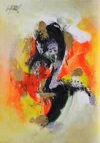 S. M. Naqvi, 10 x 14 Inch, Acrylic on Canvas, Abstract Painting, AC-SMN-115