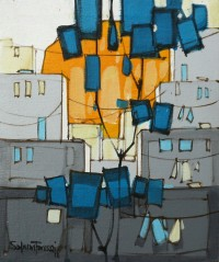 Salman Farooqi, 10 x 12 Inch, Acrylic on Canvas, Cityscape Painting-AC-SF-170