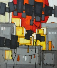 Salman Farooqi, 10 x 12 Inch, Acrylic on Canvas, Cityscape Painting-AC-SF-171