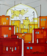 Salman Farooqi, 10 x 12 Inch, Acrylic on Canvas, Cityscape Painting-AC-SF-177