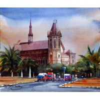Sarfraz Musawir, Watercolor on Paper, 13x15 Inch, Cityscape Painting, AC-SAR-062
