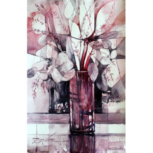 Sarfraz Musawir, Watercolor on Paper, 11x15 Inch, Floral Painting, AC-SAR-067