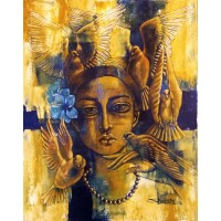 Shaista Momin, Untitled, 24 x 30 Inch, Acrylic on Canvas, Figurative Painting, AC-SHM-011