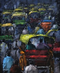 Zahid Saleem, 13 x 16 Inch, Acrylic on Canvas, Figurative Painting, AC-ZS-091