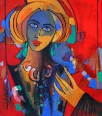 Zohaib Rind, 12 x 14 Inch, Acrylic on Canvas,  Figurative Painting, AC-ZR-019